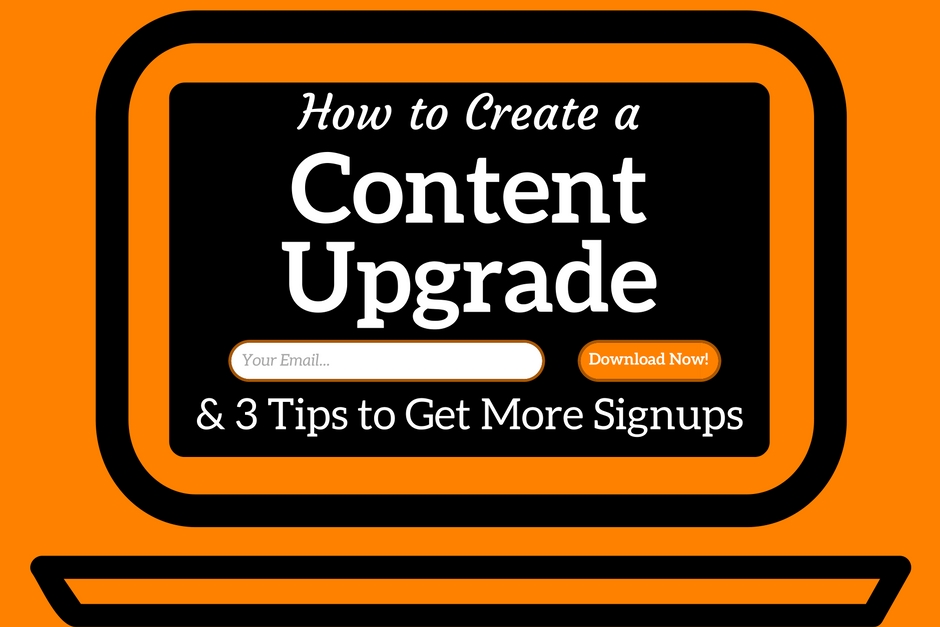 How to create a content upgrade.