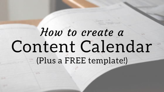 How to create a content calendar.