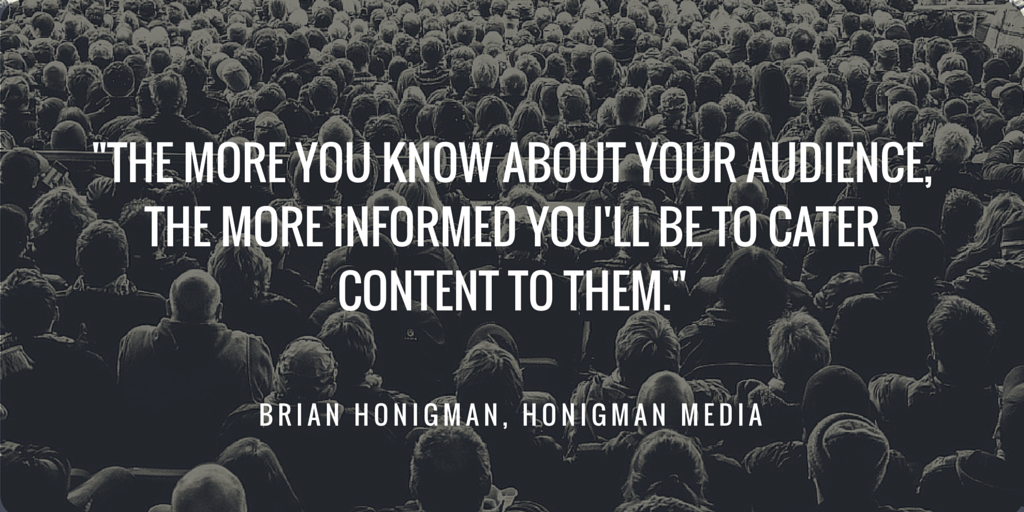 Quote about the importance of knowing your audience.