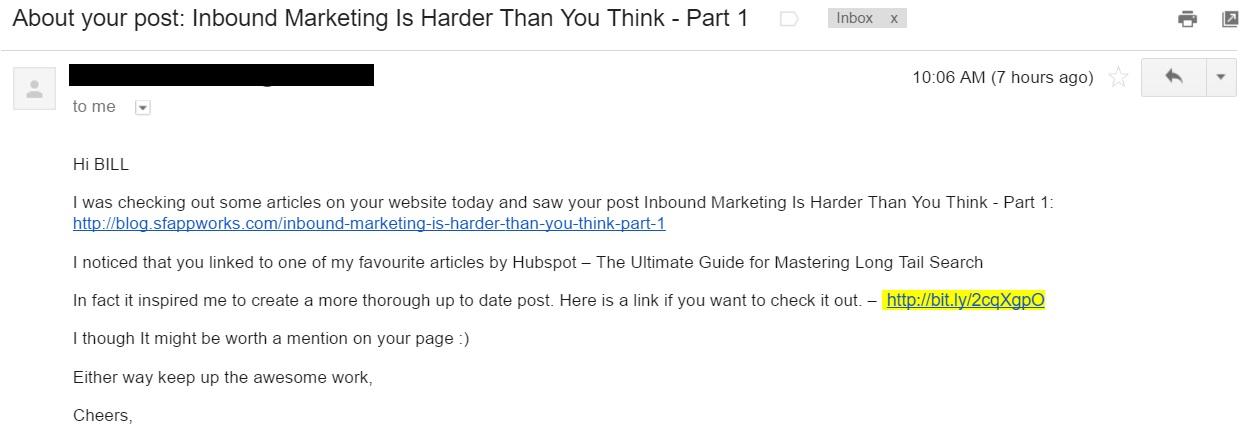 Influencer Marketing Outreach Email