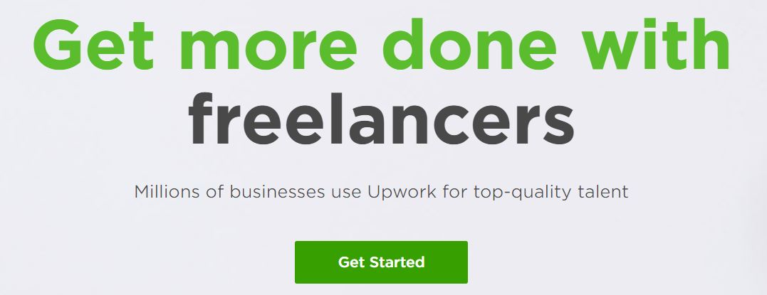 Screenshot of UpWork