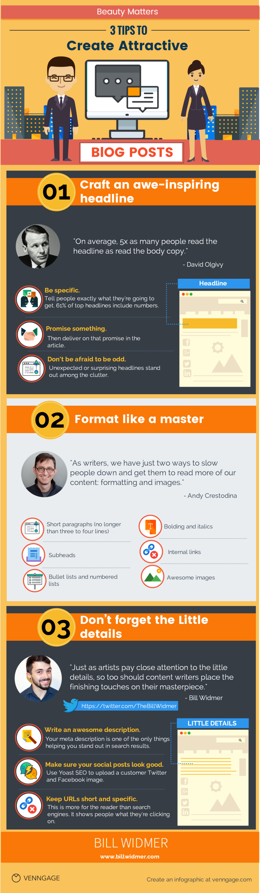 3 Tips to Create Attractive Blog Posts [Infographic]