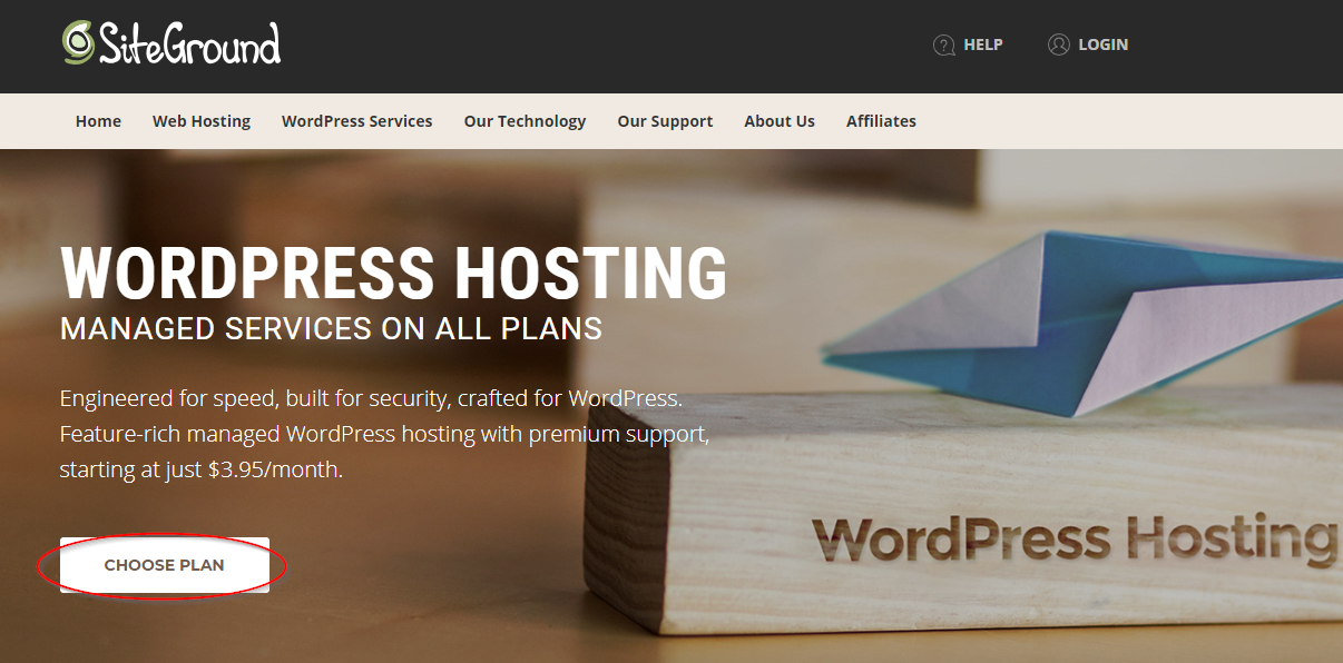 SiteGround WordPress blog hosting